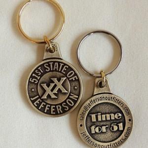 keychain brass